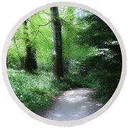 Enchanted Forest At Blarney Castle Ireland Round Beach Towel
