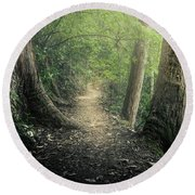 Enchanted Forrest Round Beach Towel