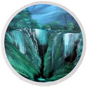 Enchanted Hideaway Round Beach Towel by Cynthia Adams