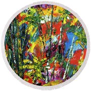 Enchanted Jungle  #167 Round Beach Towel