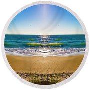 Enchanted Mirror Round Beach Towel