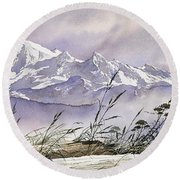 Enchanted Mountain Round Beach Towel