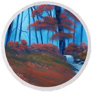 Enchanted Surrealism Round Beach Towel by Cynthia Adams