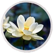 Enchanting Lotus Round Beach Towel