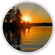 Enchanting Moment Round Beach Towel