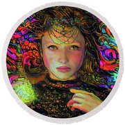 Enchantress  Round Beach Towel