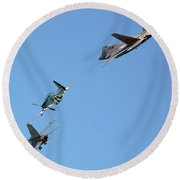 Encore Fly-over Round Beach Towel