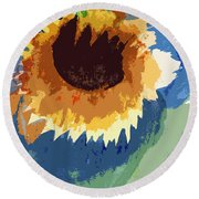 End Of Life Unaware Round Beach Towel