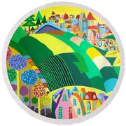 End Of May Round Beach Towel