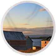 End Of The Day In Trinity Bay, Newfoundland Round Beach Towel