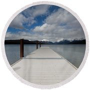 End Of The Dock Round Beach Towel