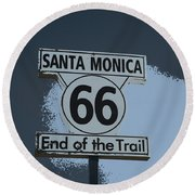 End Of The Trail 2 Round Beach Towel