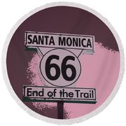 End Of The Trail 5 Round Beach Towel