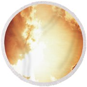 End Of The World? Round Beach Towel