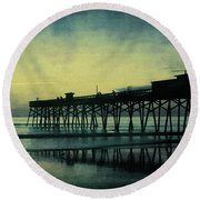 End To The Day Round Beach Towel