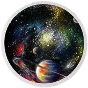 Endless Beauty Of The Universe Round Beach Towel