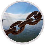 Endless Chain Of Hope  Round Beach Towel