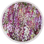 Endless Field Of Flowers Round Beach Towel