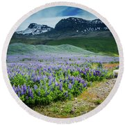Endless Meadows Round Beach Towel