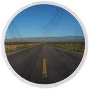 Endless Road  Round Beach Towel