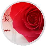 Enduring Symbol Of Love Round Beach Towel