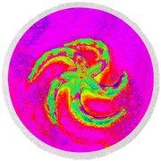 Energetic Bold Colors Starfish Round Beach Towel