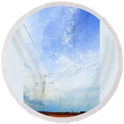 Energy Above And Below Two  Round Beach Towel