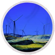 Energy Round Beach Towel