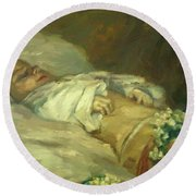 Enfant Mort Detail 1881 Round Beach Towel