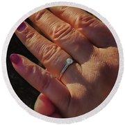Engagement Ring Round Beach Towel