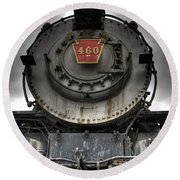 Engine 460 Front And Center Round Beach Towel