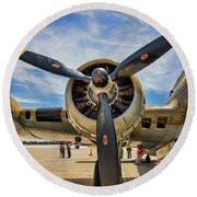 Engine B-17 Round Beach Towel