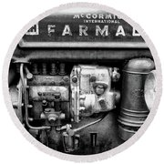 Engine - Farmall Tractor  Round Beach Towel