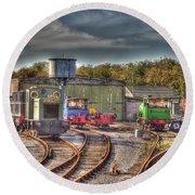 Engine Sheds Quainton Road Buckinghamshire Railway Round Beach Towel