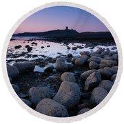 England, Northumberland, Embleton Bay. Round Beach Towel