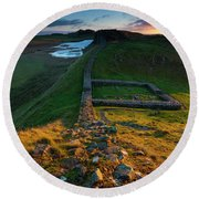 England, Northumberland, Hadrians Wall Round Beach Towel