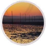 England, Northumberland, Pilgrims Causeway Round Beach Towel