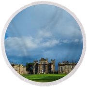 England, Northumberland, Seaton Delaval Hall Round Beach Towel