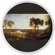 England, Richmond Hill, On The Prince Regent's Birthday Round Beach Towel