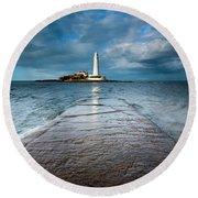 England, Tyne And Wear, Whitley Bay  Round Beach Towel