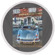 English Pub English Car Round Beach Towel