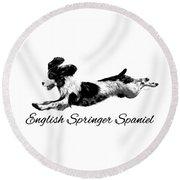English Springer Spaniel Round Beach Towel