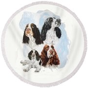 English Springer Spaniel W/ghost Round Beach Towel