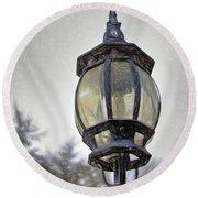 English Victorian Style Park Lamp Round Beach Towel