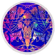 Enigma In Abstraction Round Beach Towel