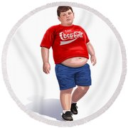 Enjoy Coke Round Beach Towel