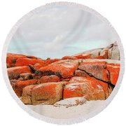 Enjoying The Moment Bay Of Fires Round Beach Towel