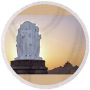 Enlightened Buddha  Round Beach Towel