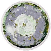 Enso Of Lavender Round Beach Towel