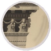 Entablature Round Beach Towel